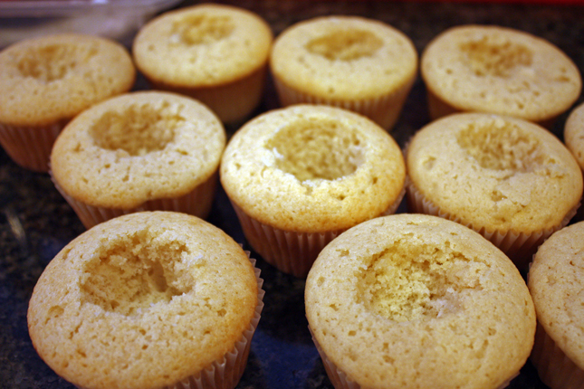 cupcakes hollowed out