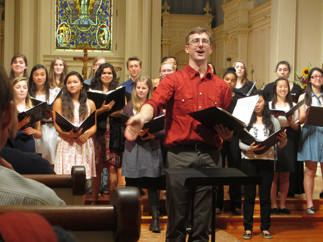 Ben JOhns with LAB choir
