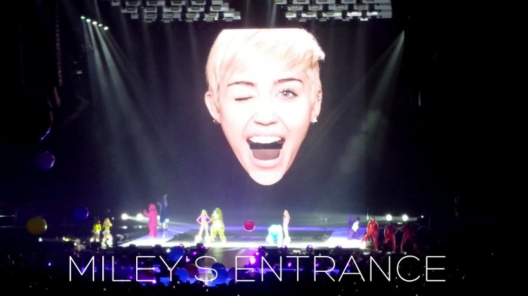 Miley x tongue entrance
