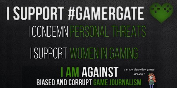 #gamergate banner gaming journalism