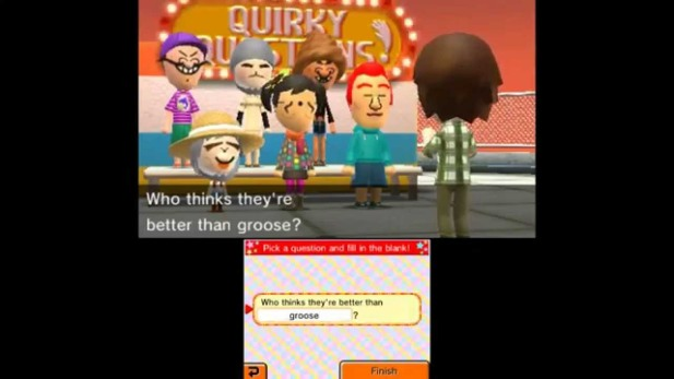 Groose, anybody? (Taken from Vinny from Vinesauce's playthough of Tomodachi Life)